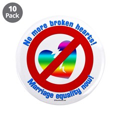 """Marriage Equality 3.5"""" Button (10 pack)"""