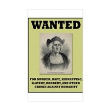 Columbus Wanted Poster Rectangle Decal