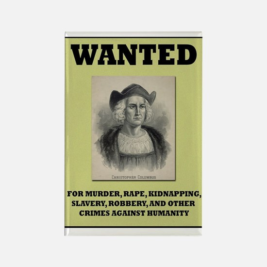 Columbus Wanted Poster Rectangle Magnet