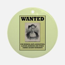 Columbus Wanted Poster Ornament (Round)