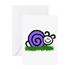 Sam the Snail Greeting Card