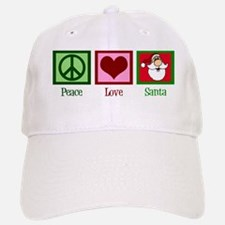 Peace Love Santa Baseball Baseball Cap