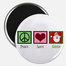 "Peace Love Santa 2.25"" Magnet (10 pack)"