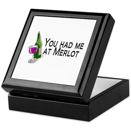 You Had Me At Merlot Keepsake Box