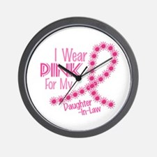 I Wear Pink For My Daughter-In-Law 26 Wall Clock