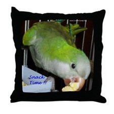 Peter the Quaker Parrot Throw Pillow