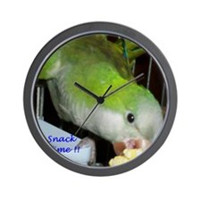 Peter the Quaker Parrot Wall Clock