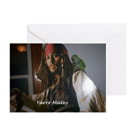 Peter the Quaker Parrot Yarr Greeting Card