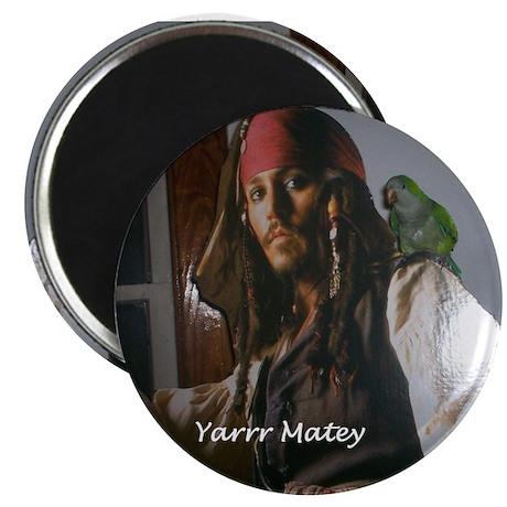 Peter the Quaker Parrot Yarr Magnet