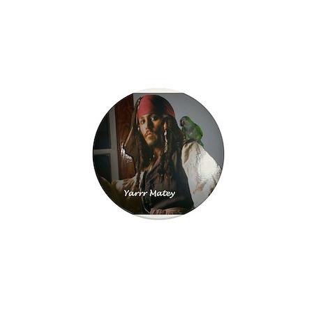 Peter the Quaker Parrot Yarr Mini Button (100 pack
