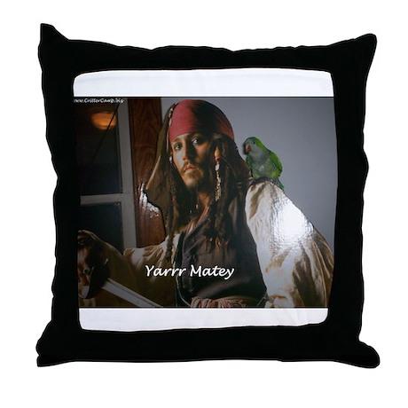 Peter the Quaker Parrot Yarr Throw Pillow
