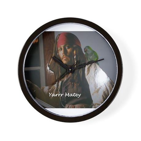 Peter the Quaker Parrot Yarr Wall Clock