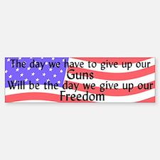 Gun Freedom Bumper Car Car Sticker