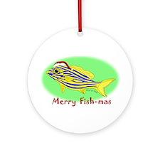 Merry Fishmas Ornament (Round)