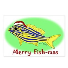 Merry Fishmas Postcards (Package of 8)