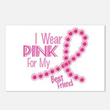 I Wear Pink For My Best Friend 26 Postcards (Packa