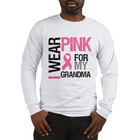 I Wear Pink (Grandma) Long Sleeve T-Shirt