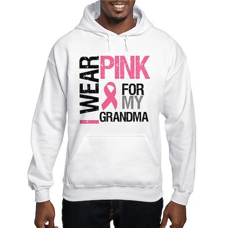 I Wear Pink (Grandma) Hooded Sweatshirt