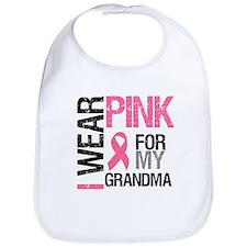 I Wear Pink (Grandma) Bib