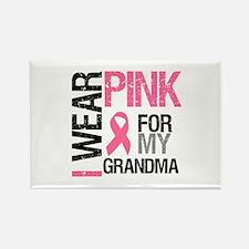 I Wear Pink (Grandma) Rectangle Magnet (10 pack)