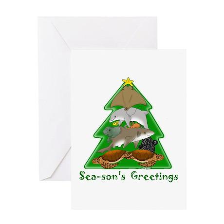 Sea-son's Greetings Greeting Card