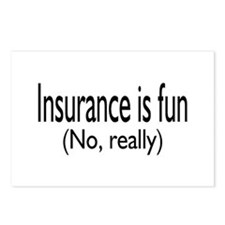 Insurance Is Fun (No, Really) Postcards (Package o