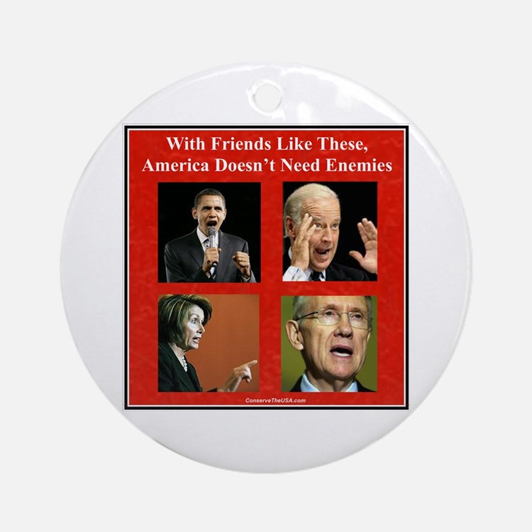 """America's Friends & Enemies"" Ornament (Round)"