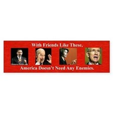 """America's Friends & Enemies"" Sticke"