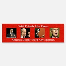 """America's Friends & Enemies"" Sticke"