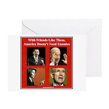 """""""America's Friends & Enemies"""" Greeting Card"""