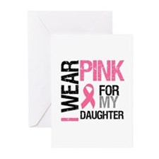 I Wear Pink Daughter Greeting Cards (Pk of 10)