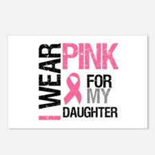 I Wear Pink Daughter Postcards (Package of 8)