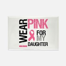 I Wear Pink Daughter Rectangle Magnet (10 pack)