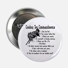 Cowboy Ten Commandments Button