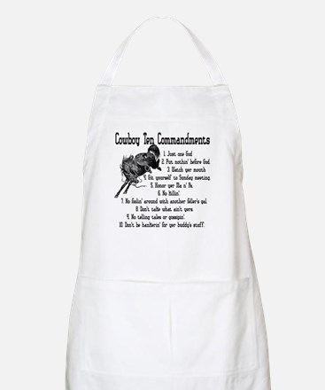 Cowboy Ten Commandments BBQ Apron