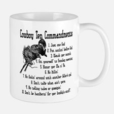 Cowboy Ten Commandments Mug