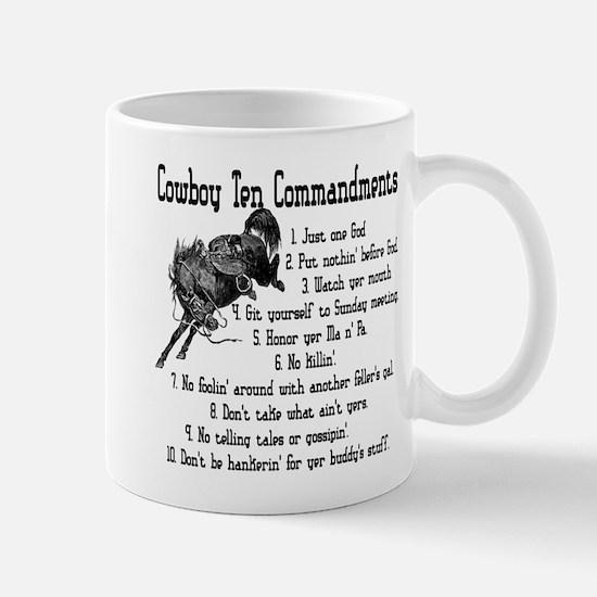 Cowboy Ten Commandments Mug
