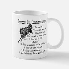 Cowboy Ten Commandments Small Small Mug