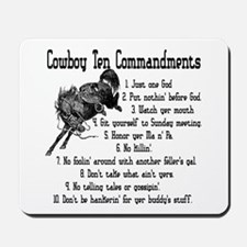 Cowboy Ten Commandments Mousepad