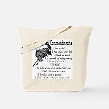 Cowboy Ten Commandments Tote Bag