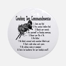 Cowboy Ten Commandments Keepsake (Round)