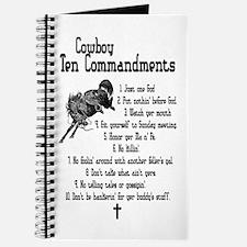 Cowboy Ten Commandments Journal