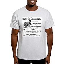 Cowboy Ten Commandments Ash Grey T-Shirt