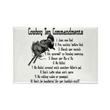 Cowboy Ten Commandments Rectangle Magnet