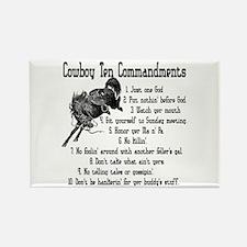 Cowboy Ten Commandments Rectangle Magnet