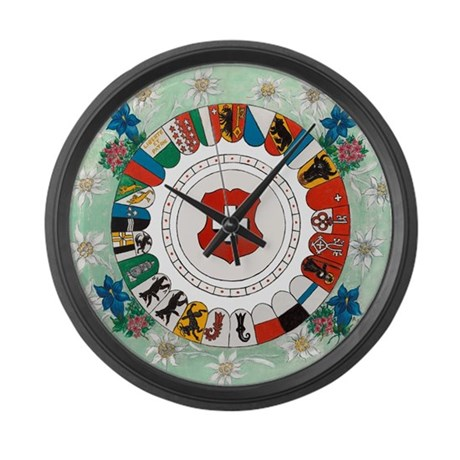 Canton Wheel Large Wall Clock