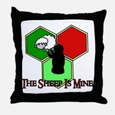 The Sheep Is Mine Catan Throw Pillow