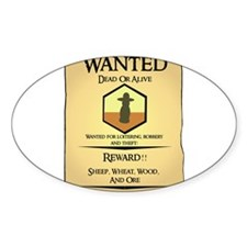 Catan Wanted Poster Oval Decal
