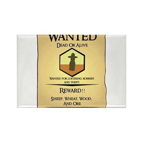 Catan Wanted Poster Rectangle Magnet (10 pack)