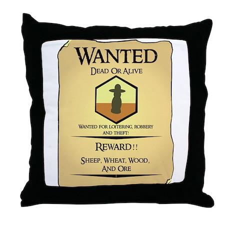 Catan Wanted Poster Throw Pillow